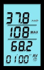 Display Sywatch meteos 1 Windmesser, Anemometer